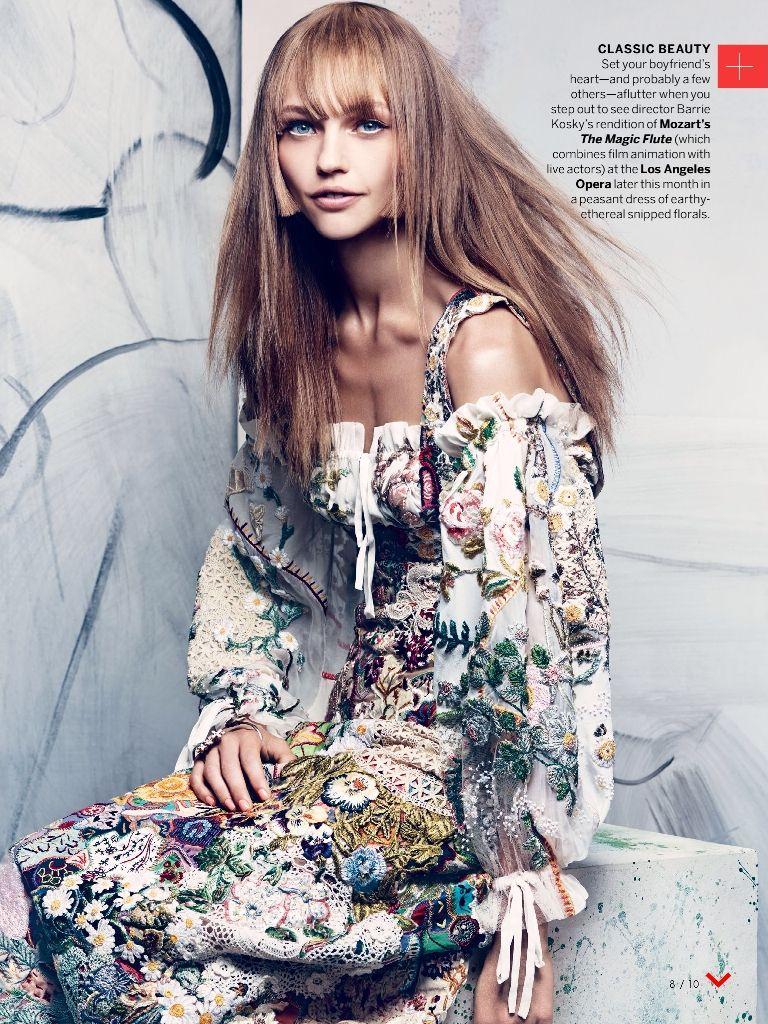 Sasha Pivovarova by Craig McDean for Vogue Nov 13