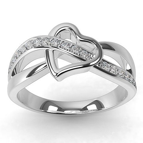 Stunning Heart  Diamond Ring by Carati Jeweller. flirty-feminine