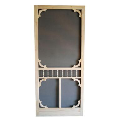 Screen Tight Colonial 32 In Wood Unfinished Screen Door Wcol32 At