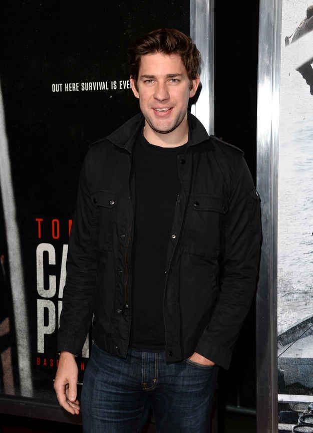Omg I never realized how good looking Jim halpert was.. lol I know that's not his real name!