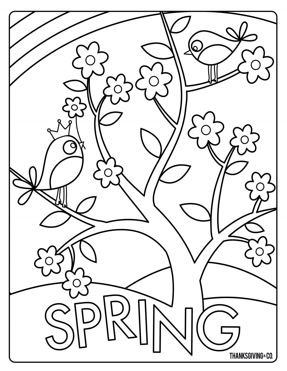 Sweet and sunny spring & Easter coloring pages | daycare ...