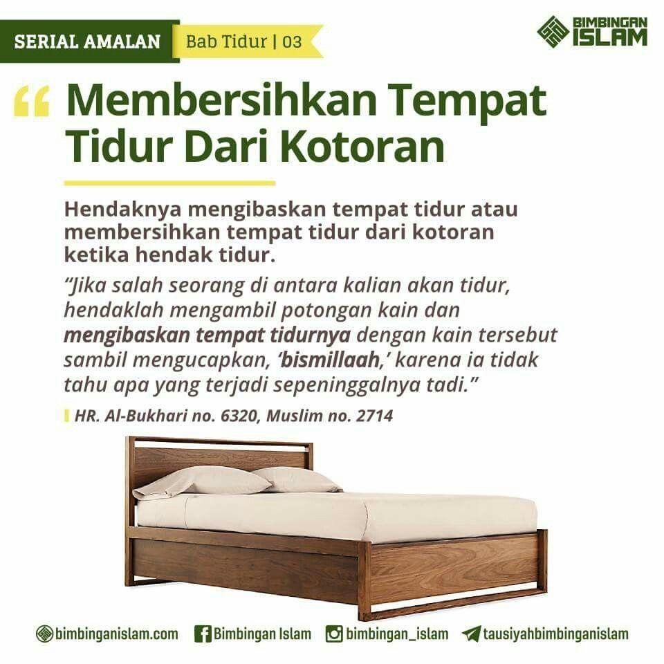 Bersihkan Tempat Tidur Sebelum Tidur Islam Tempat Tidur Motivasi