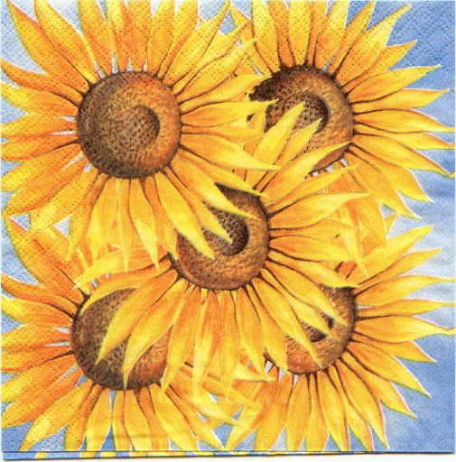 Pin De Peggy Dollar En Marge Sunflowers And Sunny Things Flores Manualidades Decoupage