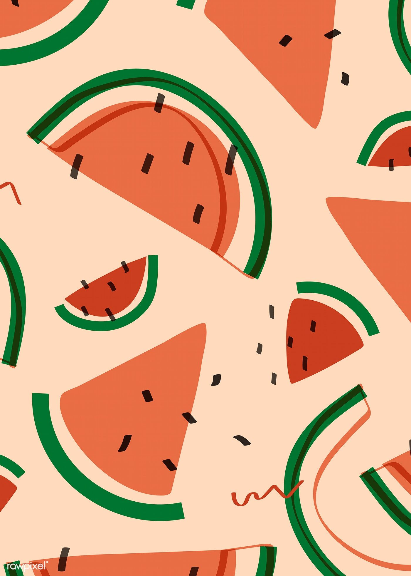 Download free vector of Tropical watermelon fruit pattern vector 845277 #tropicalpattern