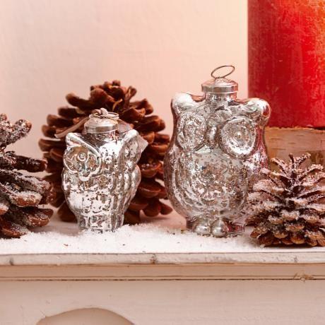 weihnachtsschmuck 2er set chouette gesehen auf loberon. Black Bedroom Furniture Sets. Home Design Ideas