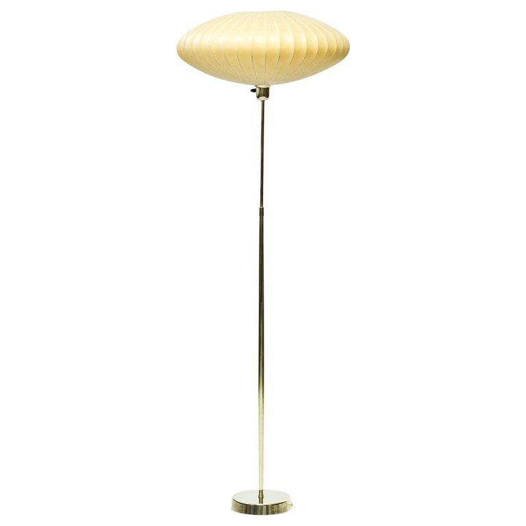 Mid Century Modern Scandinavian Floor Lamp In Brass And Cocoon By Asea Sweden Mid Century Modern Floor Lamps Scandinavian Floor Lamps Modern Floor Lamps