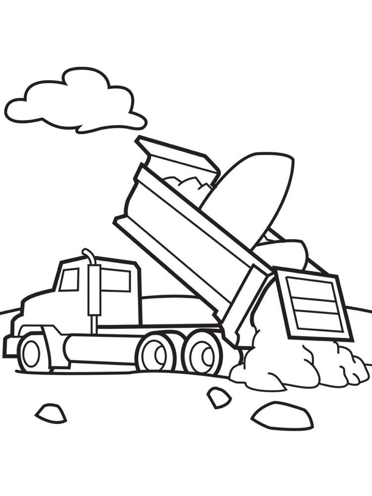 Dump Truck Coloring Pages Easy Dump Truck Is A Tool Used To Move Excavated Material From The In 2020 Monster Truck Coloring Pages Truck Coloring Pages Coloring Pages