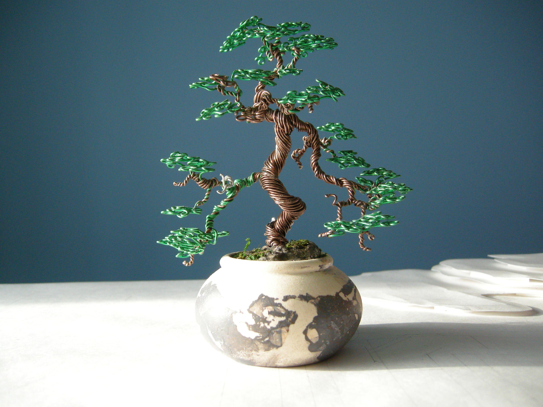Wire Tree, Bonsai Wire, Informal upright Bonsai style (Moyogi), Gift ...