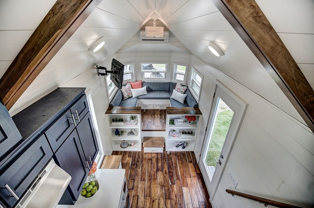 The Kokosing A Beautful Blue Tiny House From Modern Living Of Columbus Ohio