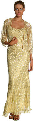 US $168.90  New Silk Chiffon Beaded Criss-cross Mother Bride Formal jacket Dress S to 3X with free evening bag