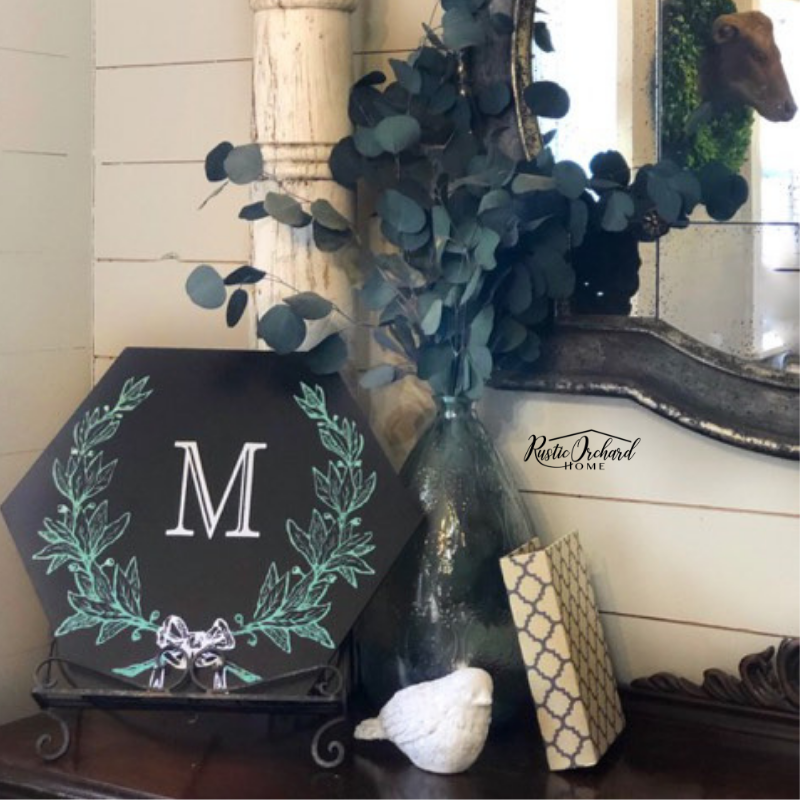 Create Your Own Personalized Monogram Laurel Wreath Sign ...