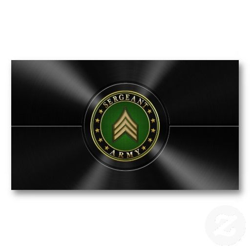 Sergeant Sgt Business Card Template Military Police Business