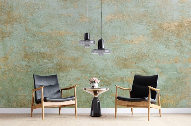 Oxidized Rustic Wallpaper Copper Type Peel Stick Reusable Etsy Rustic Wallpaper Mural Wallpaper Textured Wallpaper