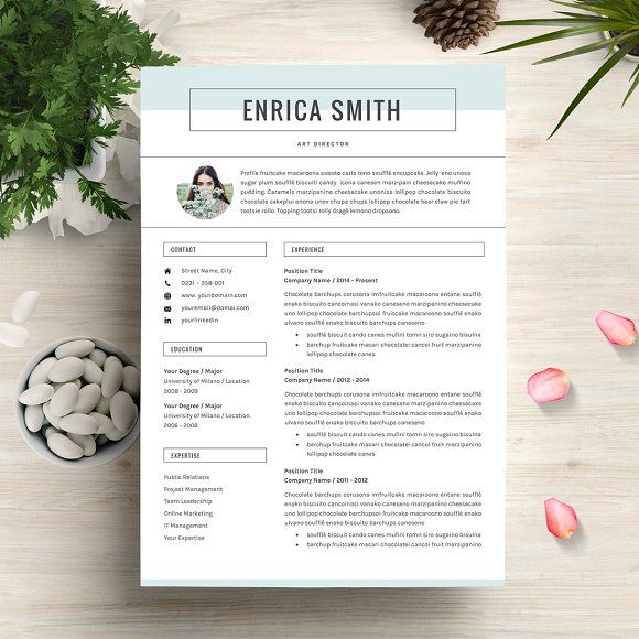Professional Resume\/CV Template by GResume on @creativemarket - cv template
