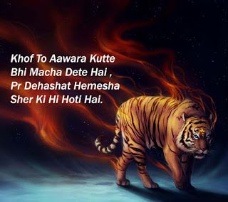 Tiger shayari in hindi