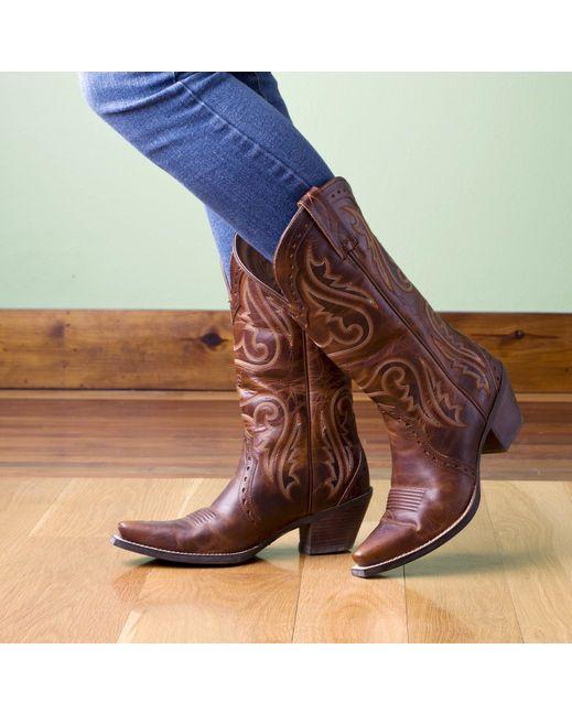 Ariat Women's Heritage Western X Toe Boot - Vintage Caramel
