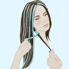 How to do highlights in dark hair at home