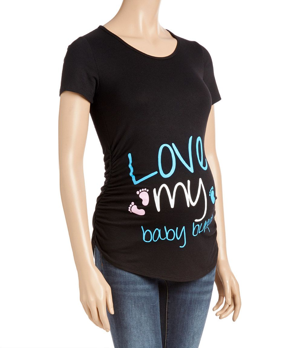 Another great find on #zulily! Due Time Black 'Love My Baby Bump' Maternity Tee by Due Time Maternity #zulilyfinds