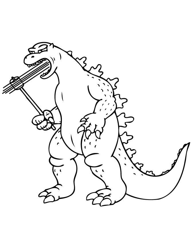 Godzilla Printable Coloring Pages Free Az