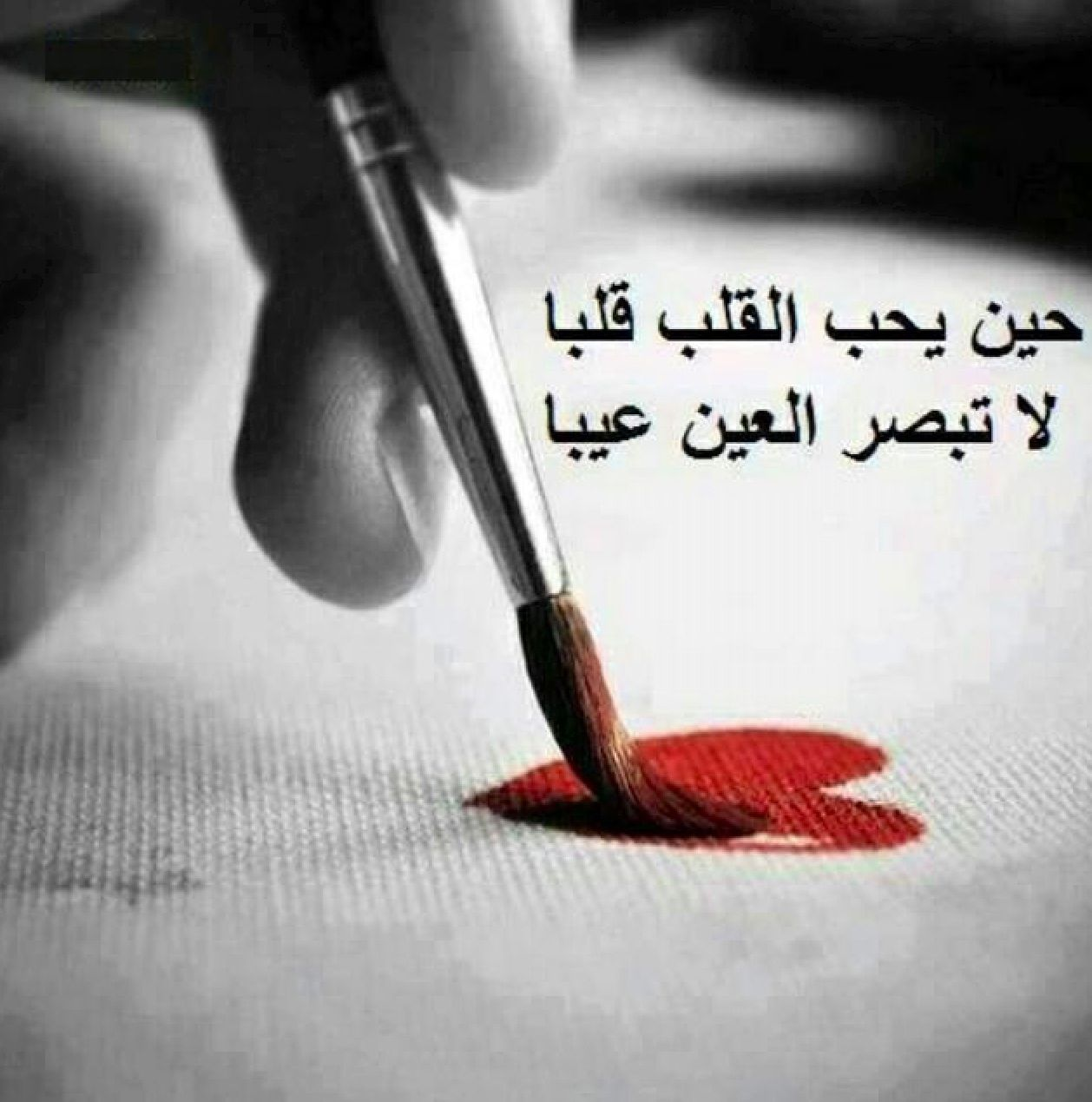 حين يحب القلب .. لا تبصر العين