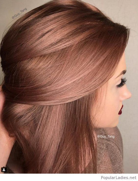 Perfect Rose Hair Color And Red Lips Hair Color Gold Hair Colors