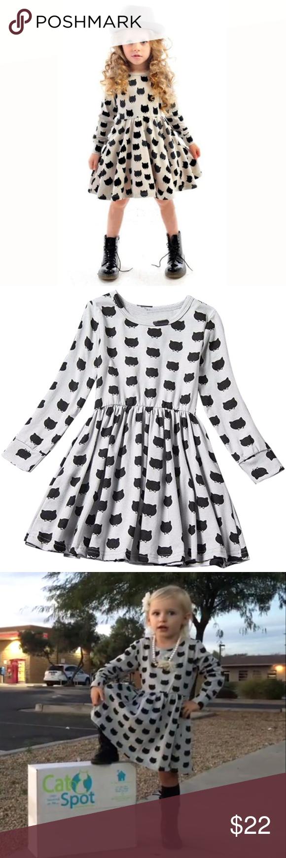 Cute Black Cat Children S Dress Childrens Dress Kids Dresses Born Dress [ 1740 x 580 Pixel ]