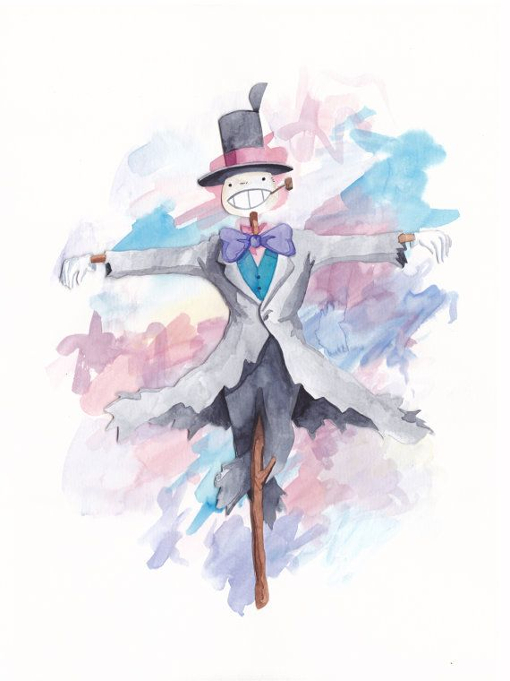 En Mouvement Chateau Navet Tete Aquarelle Studio Ghibli Art Print