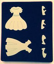 Sizzix Large Original Die ~ DRESS UPS DRESSES & SHOES ~ Doll