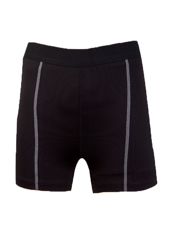 Women Tennis Volleyball Shorts Contrast Waist Band Solid Color Basic Slim Fit Sh