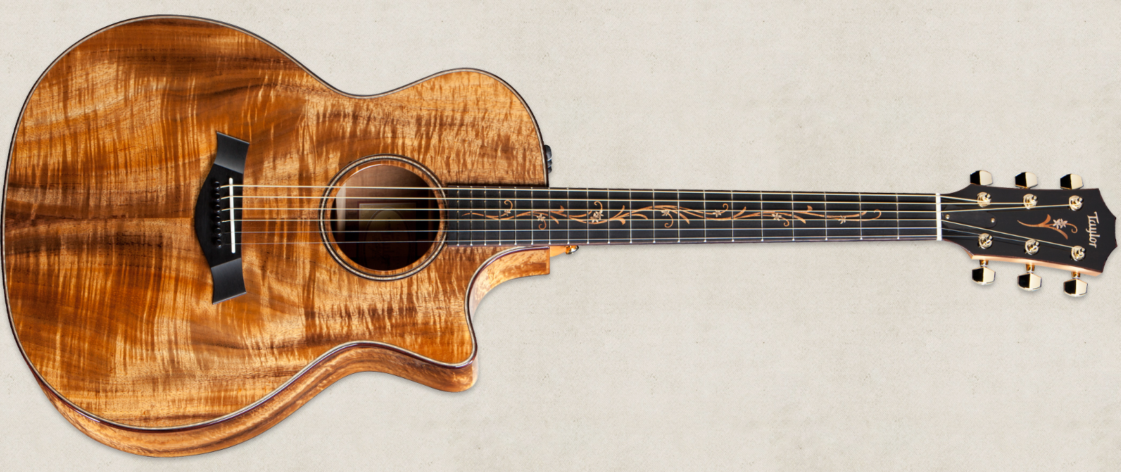 The Taylor K24ce Crafted From Solid Hawaiian Koa Provides A Tone That Becomes Warmer The More It Is Played T Taylor Guitars Guitar Acoustic Guitar For Sale