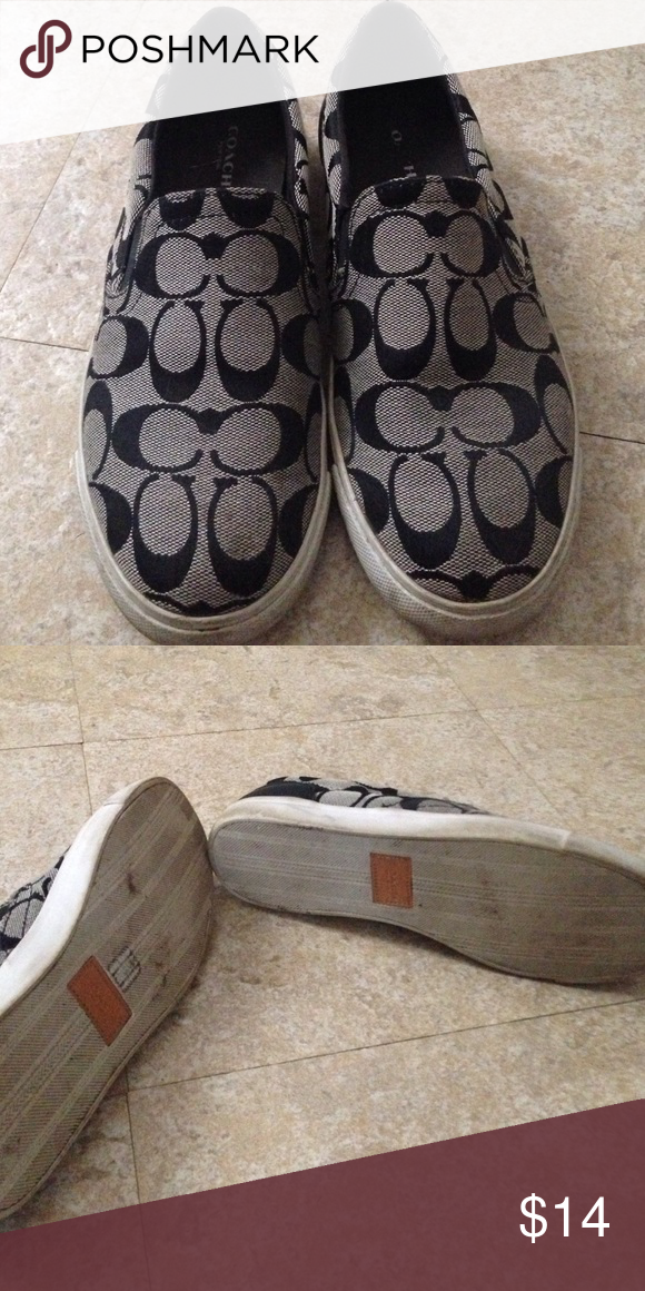 520db0e8977e4f Coach shoes Coach gray and black shoes, great condition just needs  cleaning. Coach Shoes Sneakers