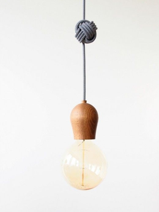 DIY knot lamp cord, by Monstercircus
