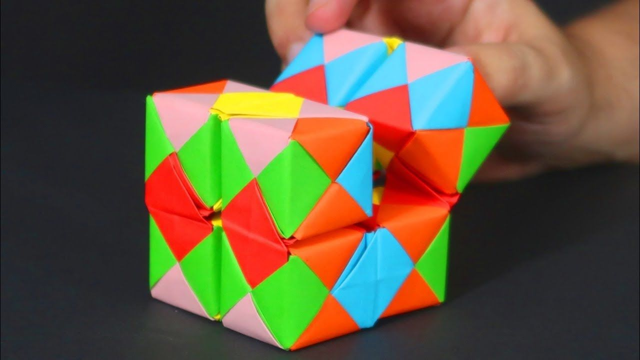 How To Make Origami Infinity Cube Crazy About Diy Youtube Origami Cube Origami Toys Origami Magic Rose Cube