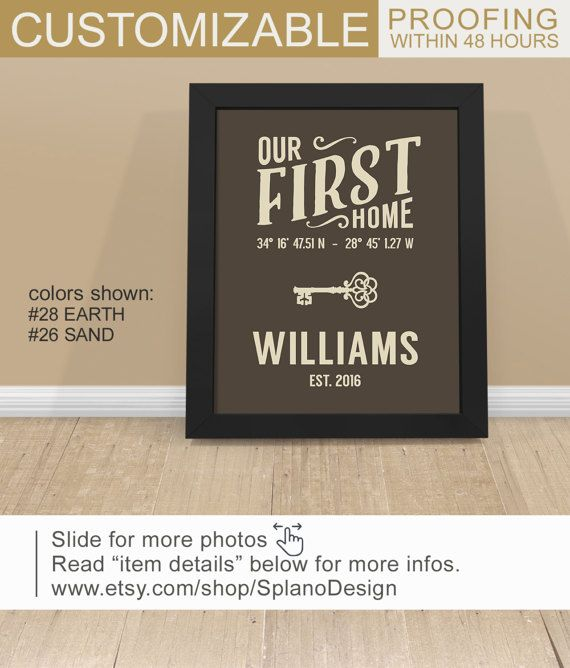 52aa791cde15d Home established sign, Personalized housewarming gift PRINT/CANVAS ...