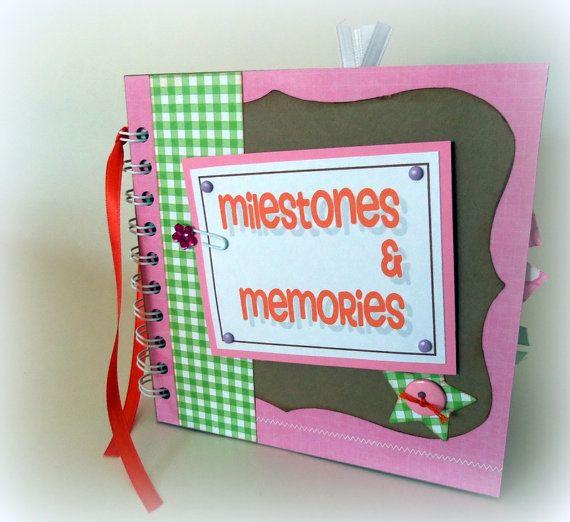 Milestones And Memories Premade Scrapbook Album By Lovethatscrap