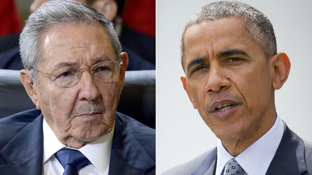 President Obama, Cuban Leader Raul Castro Shake Hands In Panama