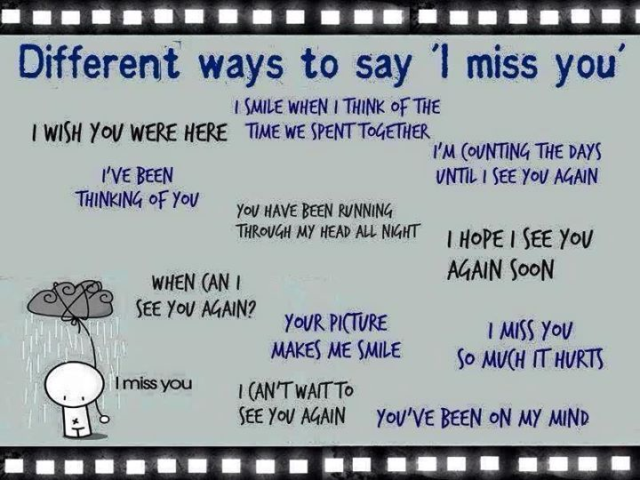 Other Ways To Say I Miss You English Vocabulary Pinterest