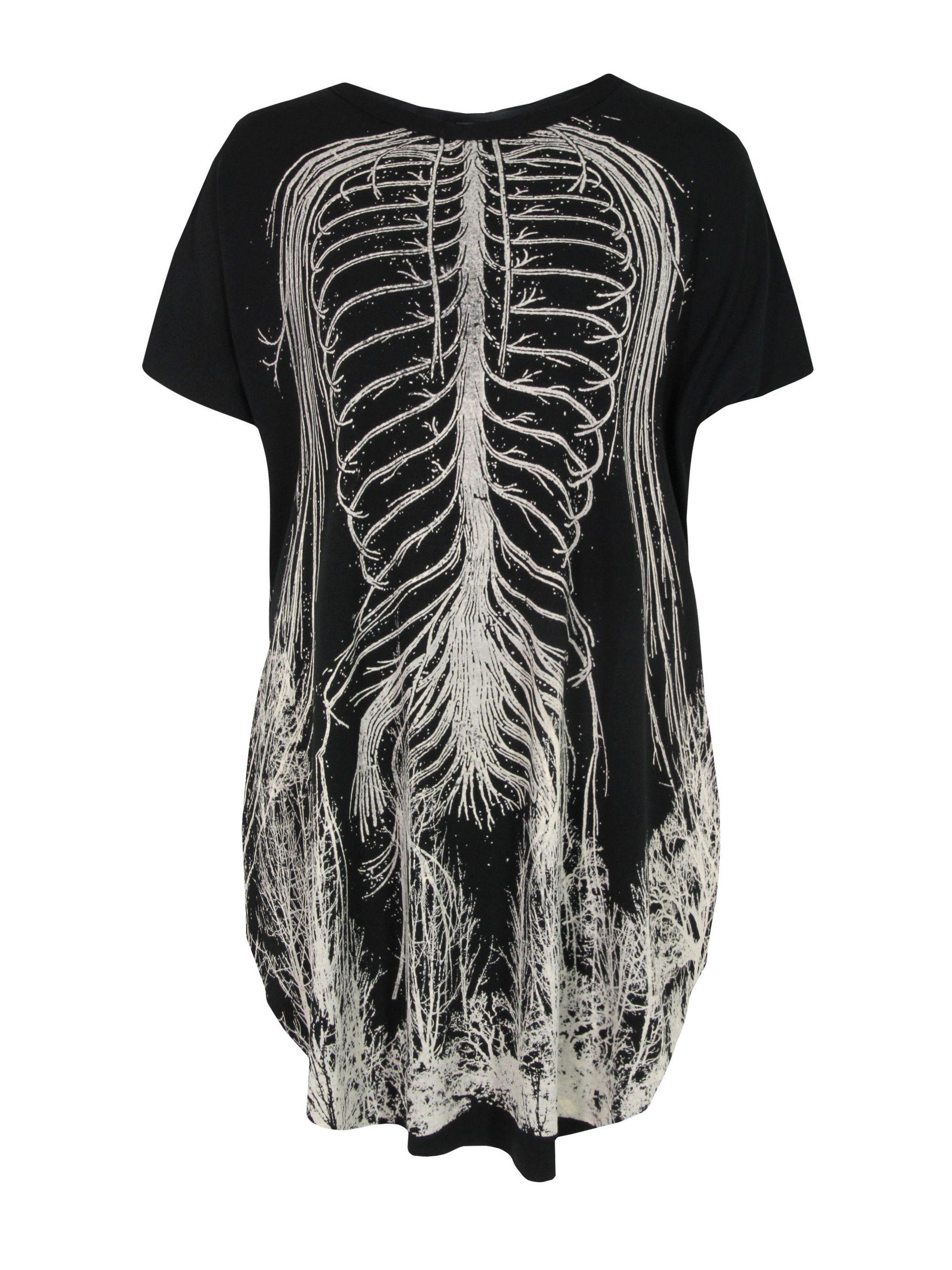 Bones Easy Tee Black Dress