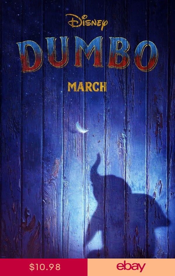"Dumbo Tim Burton 2019 Movie Poster Art Silk Print 13x20/"" 24x36/"" 27x40/"""