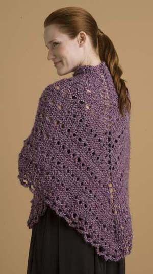Free Pattern Easy Triangle Shawl Pattern Knit Lion Brand Yarn