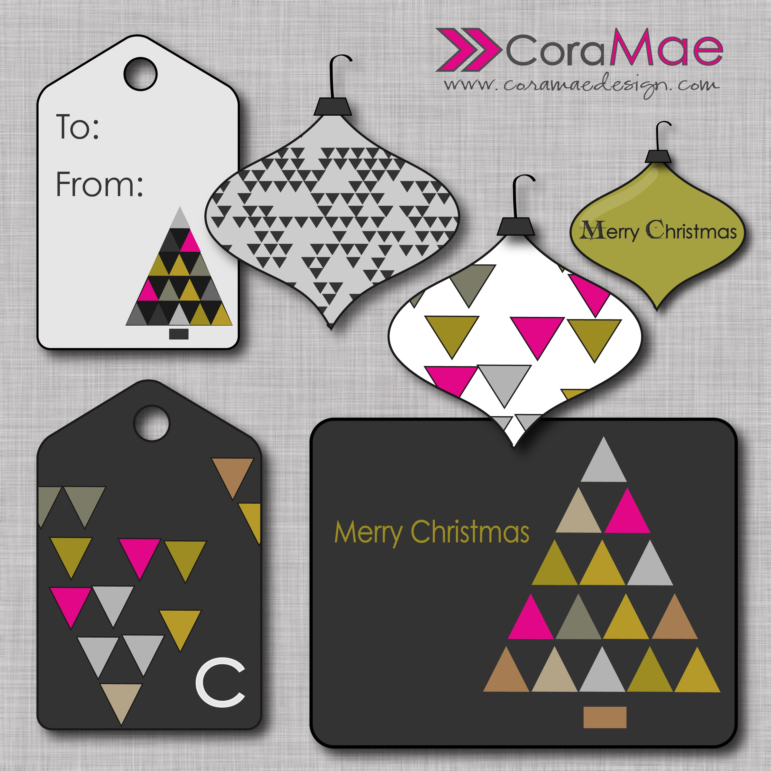 small resolution of free christmas clipart kit card initialed gift tags ornament clipart