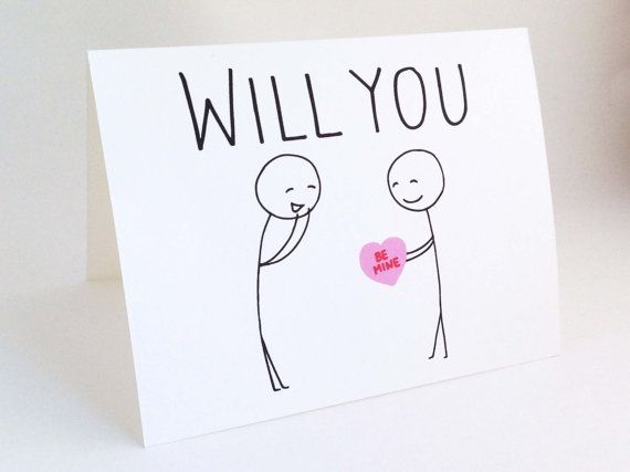 Cute Gay Valentine Card Funny Valentines Day For Him Love Card