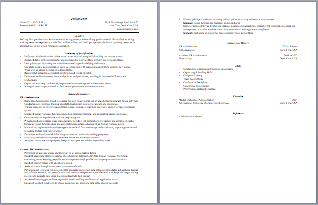 Contract Administrator Resume Sample Resume Template Sample Resume Templates Resume Updating Resume