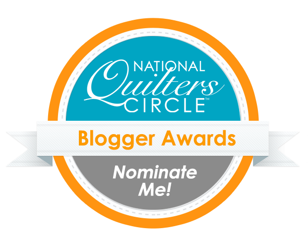 National Quilters Circle Blogger Awards - Nominate Me badge