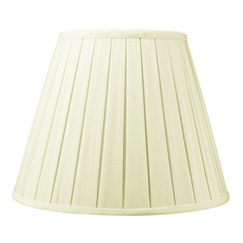 8x14x11 Eggshell Empire Box Pleat Lamp Shade With Br Spider Er By Home Concept Perfect For Table Lamps And Some Desk Medium Egg Shell Find