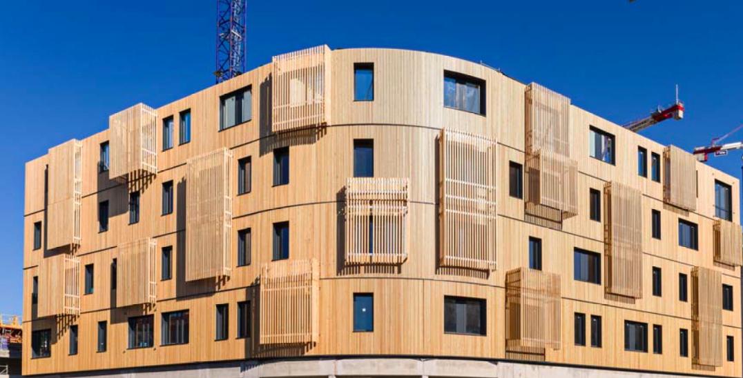 Façade de ywood marseille u plus haut bureau en structure bois