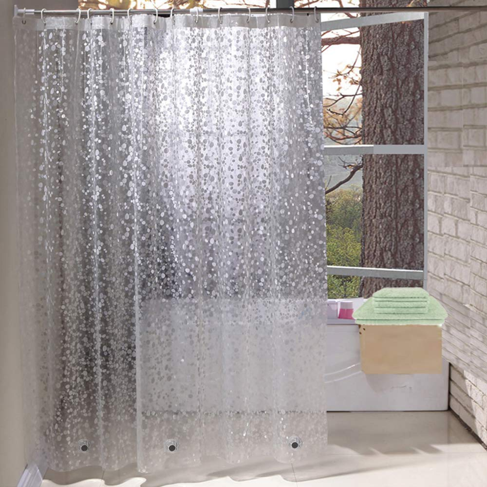 Shower Curtains Mould Proof Resistant Eva Waterproof Heavy Duty