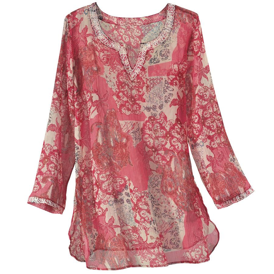 Shades of Red chifon top - love love <3 it