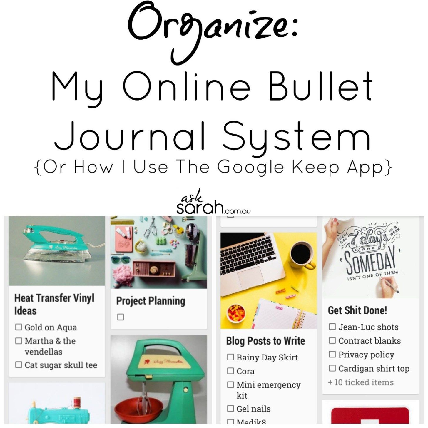 Organize My Online Bullet Journal System {Or How I Use