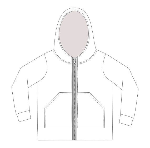 This is a hoodie with zipper sewing pattern with real color step-by ...